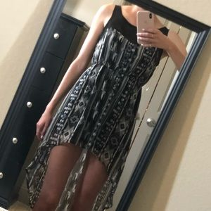 NWOT button back high low dress